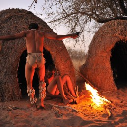 deception valley bushmen making fire