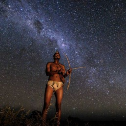 stargazing bushman